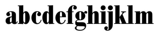 Bodoni Recut FS Bold Condensed Font LOWERCASE