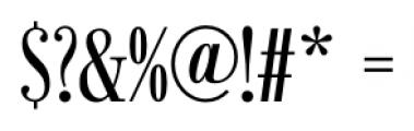 Bodoni Recut FS Compressed Caps Font OTHER CHARS
