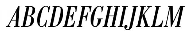 Bodoni Recut FS Condensed Italic Font UPPERCASE