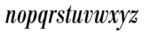 Bodoni Recut FS Condensed Italic Font LOWERCASE