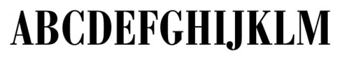 Bodoni Recut FS DemiBold Condensed Font UPPERCASE
