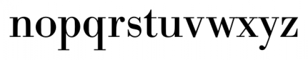 Bodoni Recut FS Regular Font LOWERCASE
