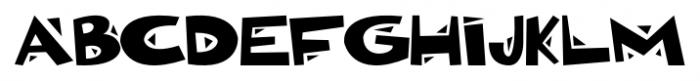 Bonkers Regular Font UPPERCASE