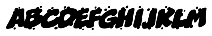Boogers Sneeze BB Italic Font UPPERCASE