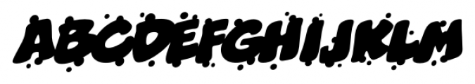 Boogers Sneeze BB Italic Font LOWERCASE