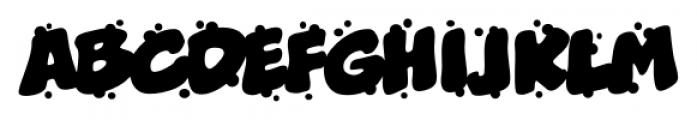 Boogers Sneeze BB Regular Font UPPERCASE