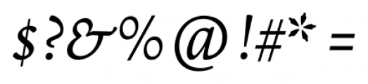 Borges Blanca Italic Font OTHER CHARS