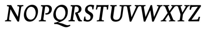 Borges Gris Italic Font UPPERCASE