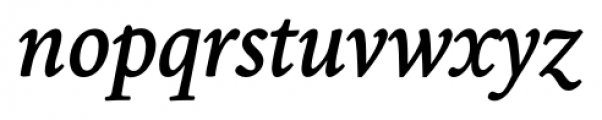 Borges Gris Italic Font LOWERCASE