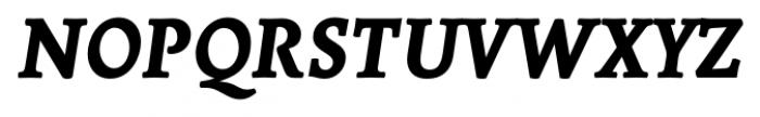Borges Super Negra Italic Font UPPERCASE