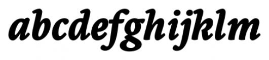 Borges Super Negra Italic Font LOWERCASE