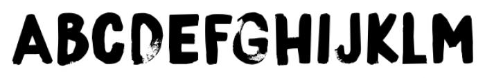 Boris Brush Regular Font LOWERCASE