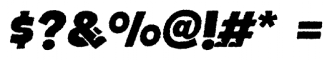 Bototo Rough Italic Font OTHER CHARS