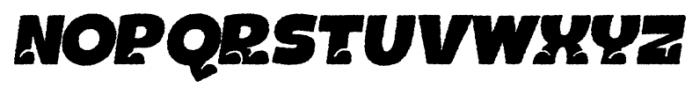 Bototo Rough Italic Font LOWERCASE
