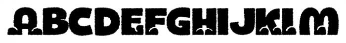 Bototo Rough Font UPPERCASE