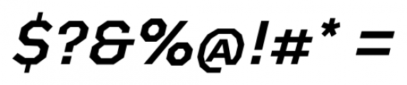 Bowie Medium Italic Font OTHER CHARS