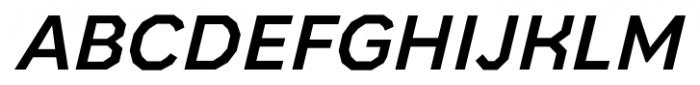 Bowie Medium Italic Font UPPERCASE