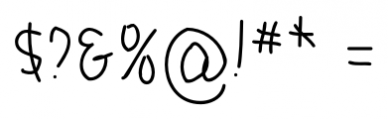 Boyscout Regular Font OTHER CHARS
