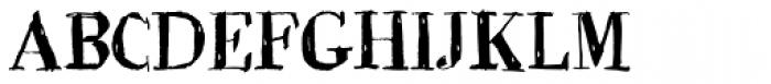 BoRock Grunge Font UPPERCASE