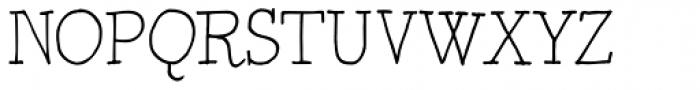 BoRock Slick Font UPPERCASE