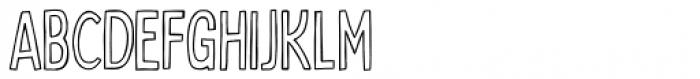 Bobby Jones Condensed Outline Font LOWERCASE
