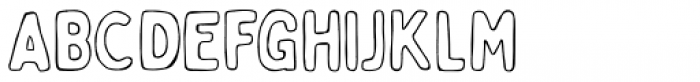 Bobby Jones Soft Outline Font UPPERCASE