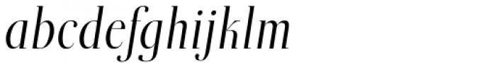 Boberia Light Italic Font LOWERCASE