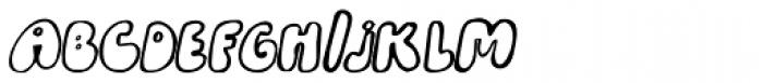 Bobolha Italic Font UPPERCASE