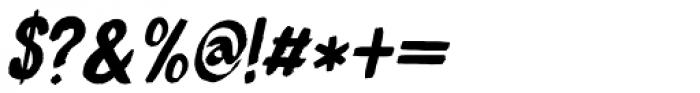 Bocadillo Italic Font OTHER CHARS