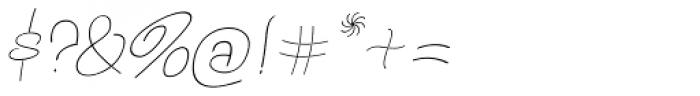 Bochalema Light Italic Font OTHER CHARS