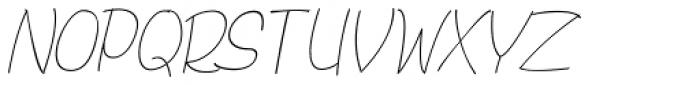 Bochalema Light Italic Font UPPERCASE