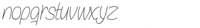 Bochalema Light Italic Font LOWERCASE