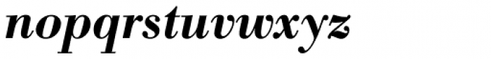 Bodoni Antiqua Demi Bold Italic Font LOWERCASE