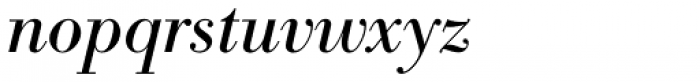Bodoni Antiqua Italic Font LOWERCASE
