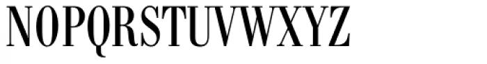 Bodoni Berthold BQ Cond Font UPPERCASE