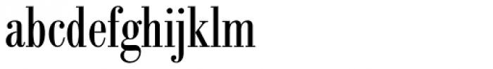 Bodoni Berthold BQ Cond Font LOWERCASE