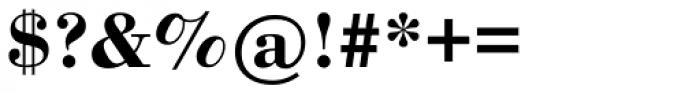 Bodoni Bold Font OTHER CHARS