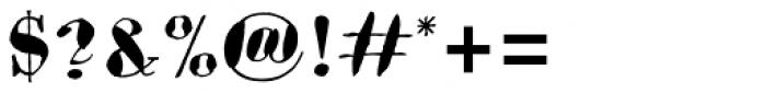 Bodoni Brush Std Font OTHER CHARS