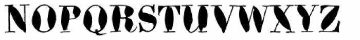 Bodoni Brush Font UPPERCASE