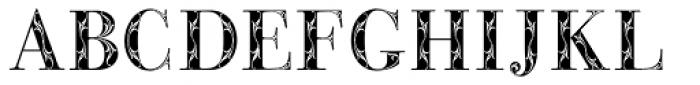 Bodoni Classic Bold Ornate Font UPPERCASE