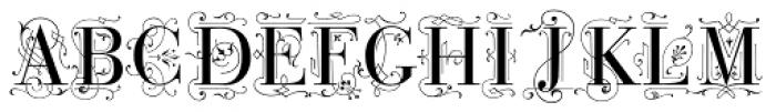 Bodoni Classic Deco Caps Font UPPERCASE