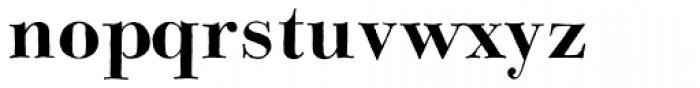 Bodoni Classic Hand Bold Font LOWERCASE