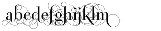 Bodoni Classic Pro D Font LOWERCASE