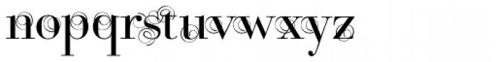 Bodoni Classic Swirls Roman Font LOWERCASE