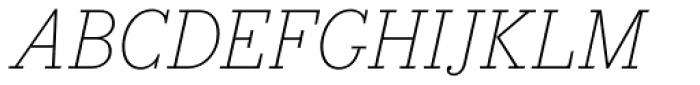 Bodoni Egyptian Pro ExtraLight Italic Font UPPERCASE