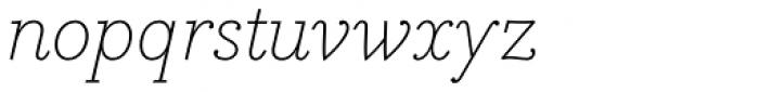 Bodoni Egyptian Pro ExtraLight Italic Font LOWERCASE