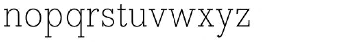 Bodoni Egyptian Pro ExtraLight Font LOWERCASE