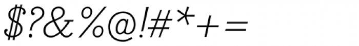 Bodoni Egyptian Pro Light Italic Font OTHER CHARS