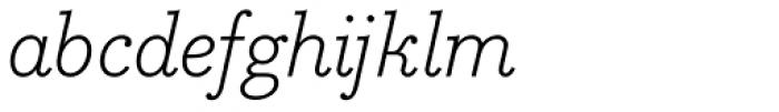 Bodoni Egyptian Pro Light Italic Font LOWERCASE