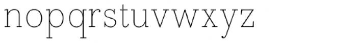 Bodoni Egyptian Pro Thin Font LOWERCASE
